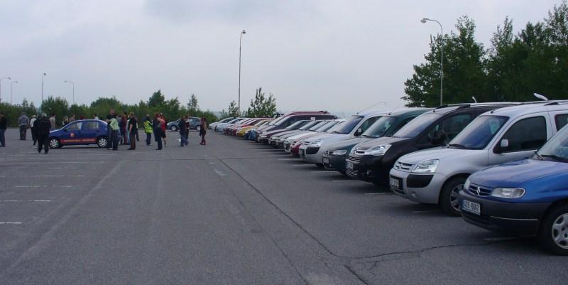 na parkovišti JE Temelín